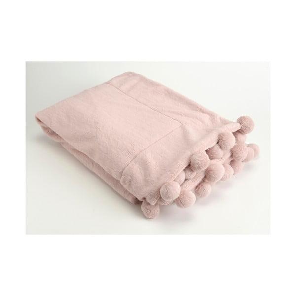 Deka Pompon Pink, 130x170 cm