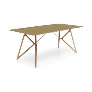 Dubový jedálenský stôl Tink Linoleum Gazzda, 180cm, olivový