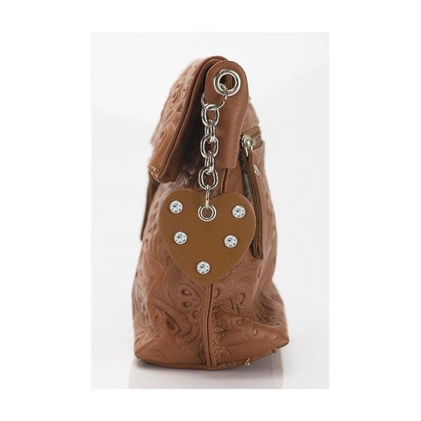 Kožená kabelka Giorgio Costa 15006 Cognac