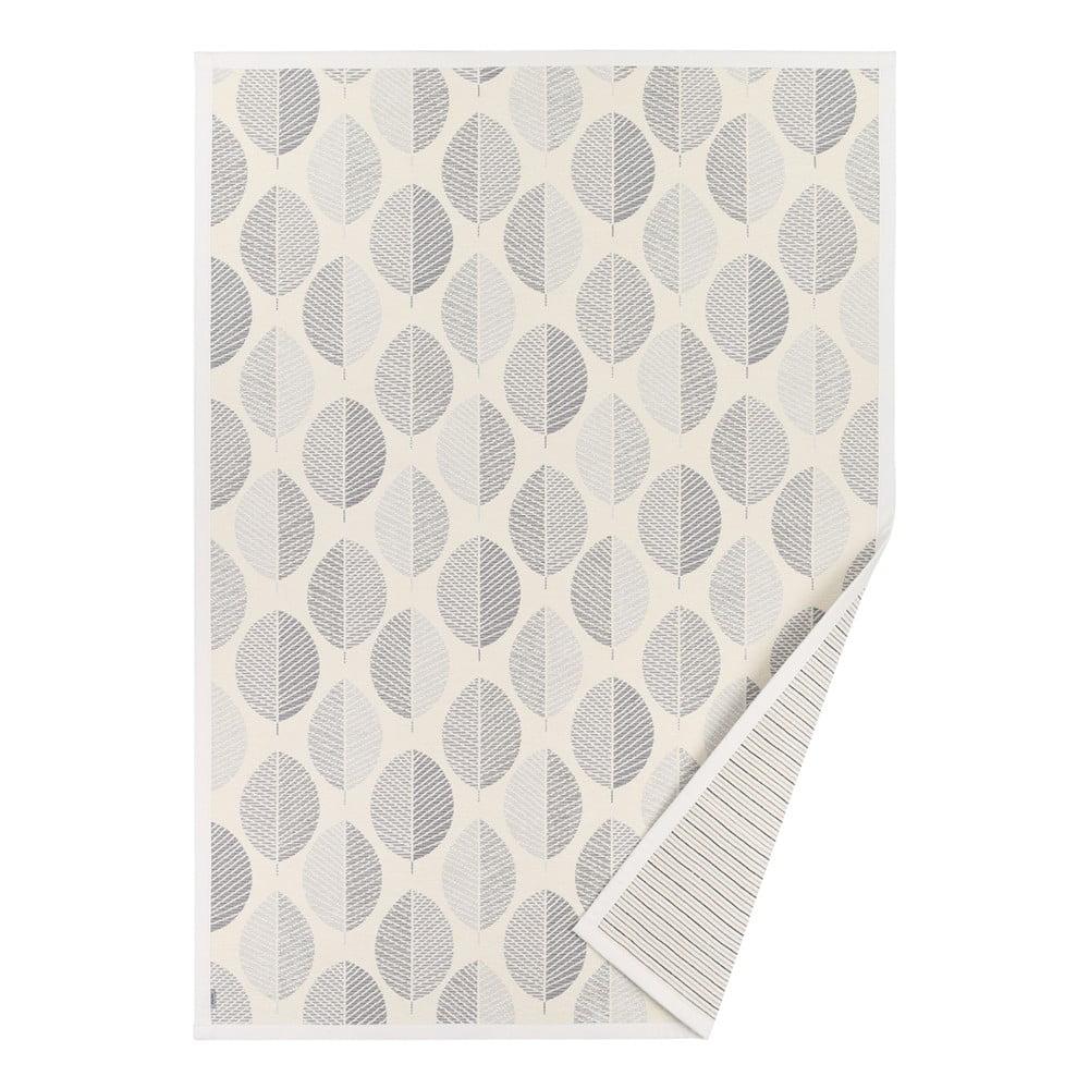 Biely vzorovaný obojstranný koberec Narma Pärna, 140 × 70 cm