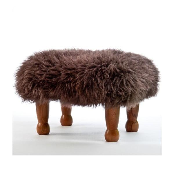 Stolička z ovčej kože Anwen Mink