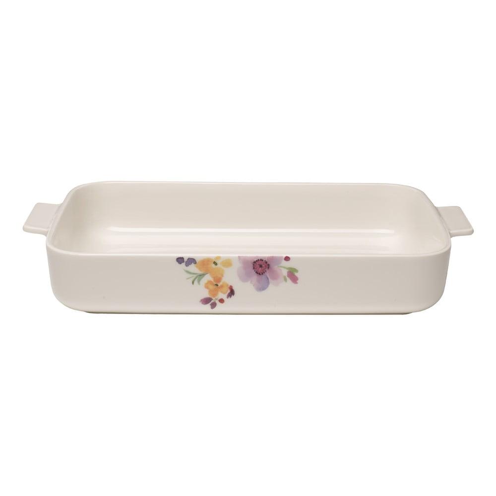Biela porcelánová zapekacia misa Villeroy & Boch Mariefleur Basic, 34 x 24 cm