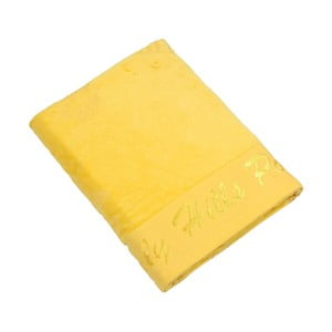 Žltá bavlnená osuška BHPC Velvet, 80x150cm
