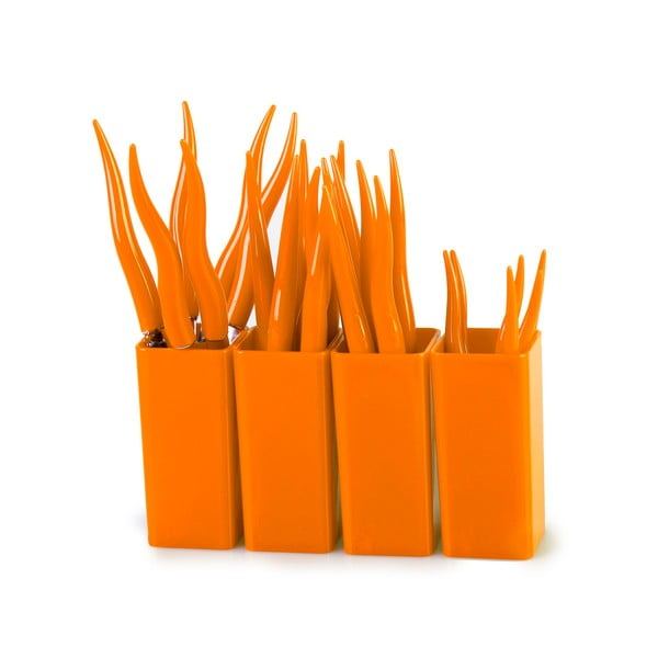 Sada príboru Tullio oranžová, 24 ks
