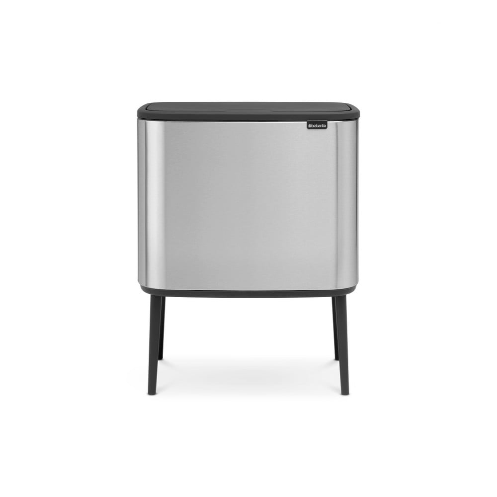 Odpadkový kôš v striebornej farbe Brabantia Touch, 36 l