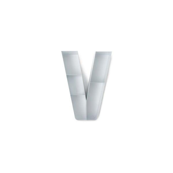 Nástenná polička v tvare písmena V Tomasucci
