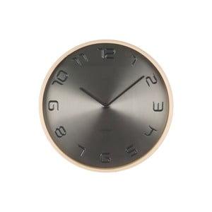 Sivé hodiny Present Time Bent