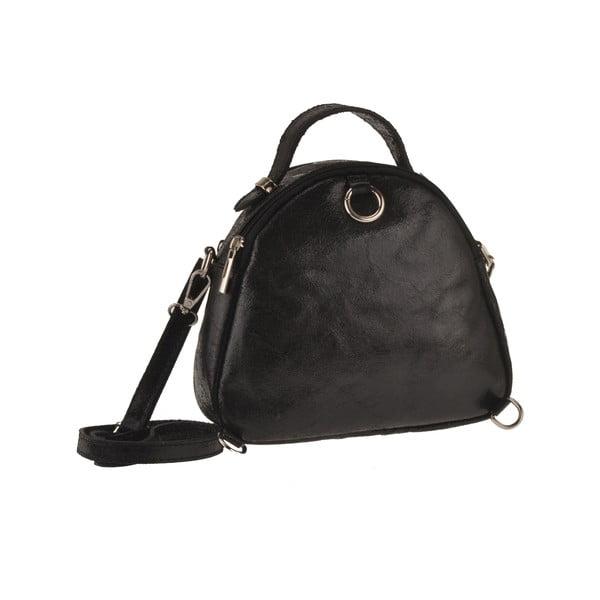 Kožená kabelka Men, čierna