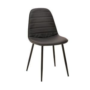 Čierna stolička InArt Elegant Lines