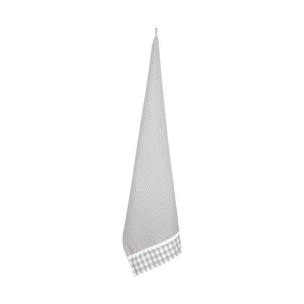 Kuchynská utierka Basic Hearts 50x85 cm, sivá