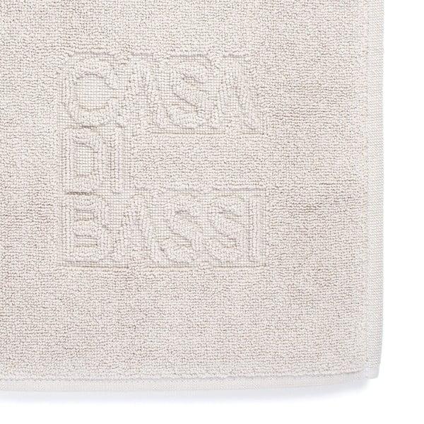 Krémovobiela bavlnená kúpeľňová predložka Casa Di Bassi Eva, 50 × 70 cm