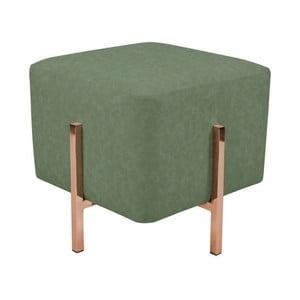 Zelená stolička s nohami v medenej farbe Vivorum Liani