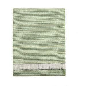 Limetkovozelený pléd s podielom bavlny Euromant Toscanas, 140×180 cm