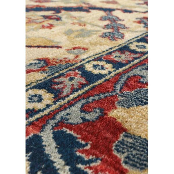 Vlnený koberec Ibai, 120x160 cm, béžový