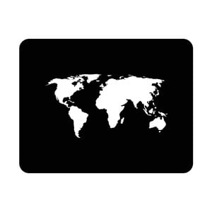 Nástenná svetelná dekorácia World, 82 × 67 cm
