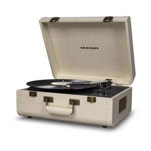 Svetlokrémový gramofón Crosley Portfolio Cream