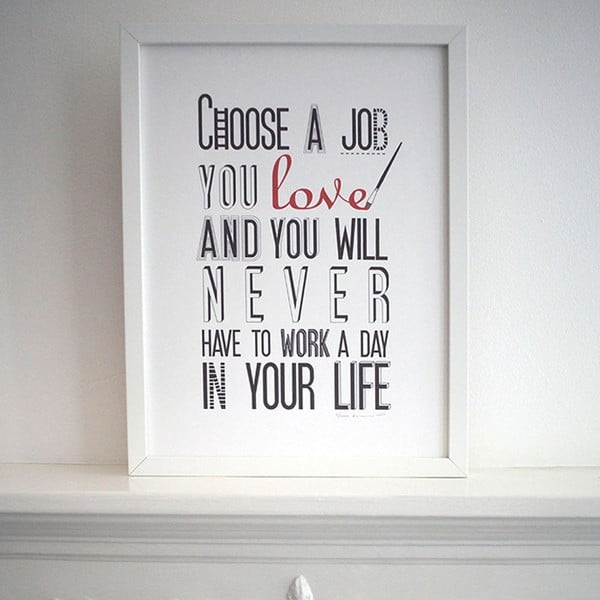 Plagát Choose A Job, 30x40 cm