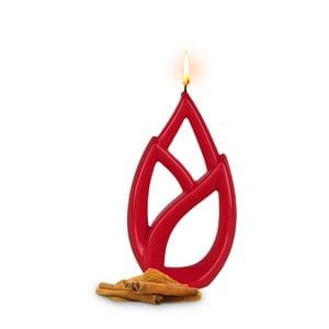 Červená vonná sviečka s vôňou škorice Alusi Livia Petit, 2,5 hodíny horenia