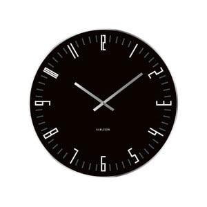 Čierne hodiny Present Time XL Slim