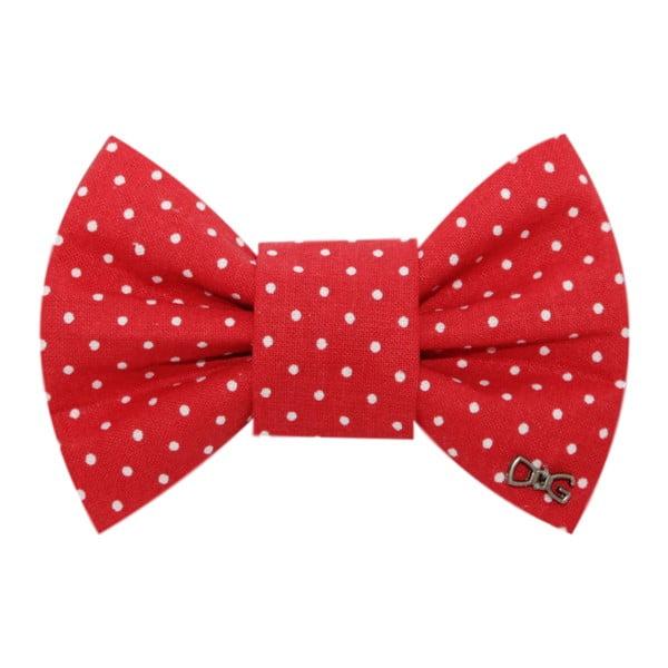 Červený charitatívny psí motýlik s malými bodkami Funky Dog Bow Ties, veľ. L