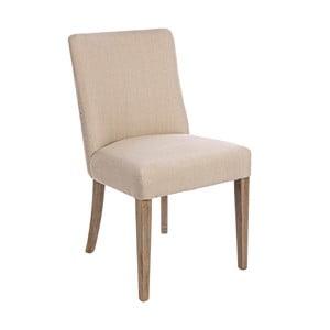 Krémová jedálenská stolička Bizzotto Schienale