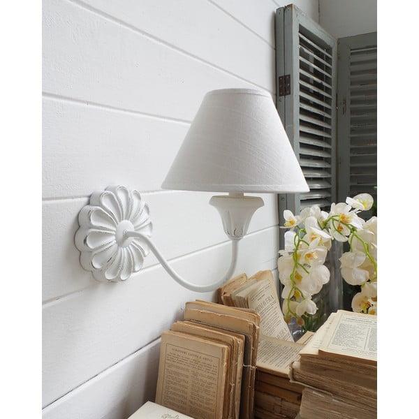 Nástenná lampa Flower White Antique