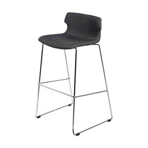 Barová stolička D2 Techno, čalúnená, grafitová