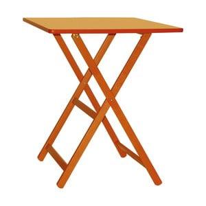 Oranžový drevený skladací stôl Valdomo Maison, 60 x 80 cm