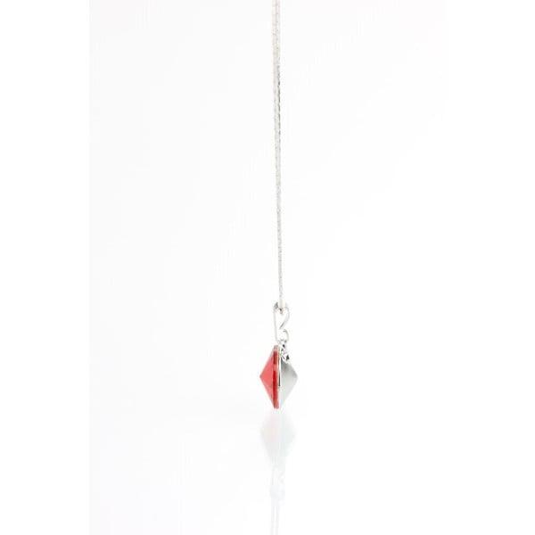 Červený náhrdelník so Swarovski krištáľmi Yasmine Longie