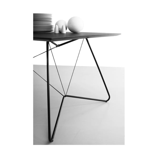 Jedálenský/pracovný stôl On A String, čierny, 170 x 90 cm