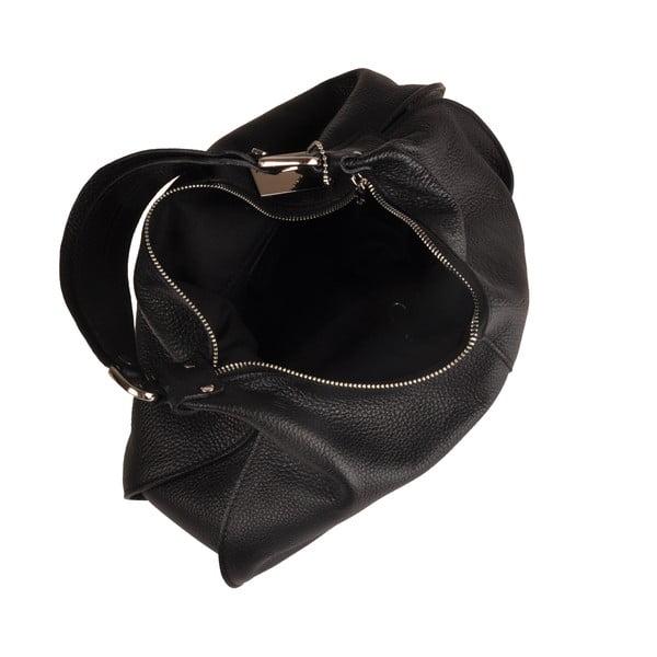 Kožená kabelka Emilio Masi Russel, čierna