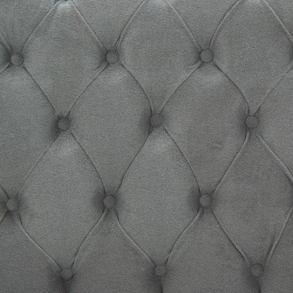 Svetlosivá posteľ VIVONITA Allon 180x200cm, čierne nohy