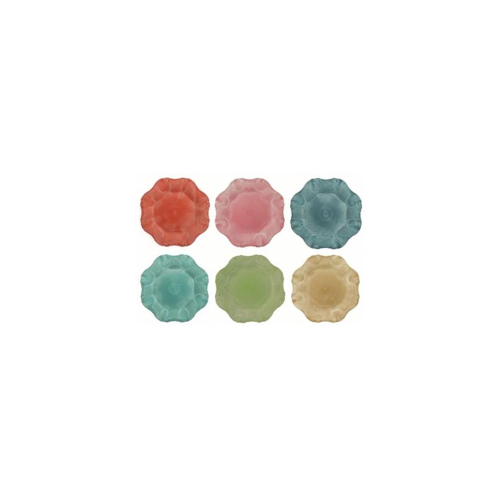 Sada 6 farebných tanierov Villa d'Este Colori, ø 33 cm