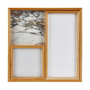 Sada 3 mramorových podnosov White Holz