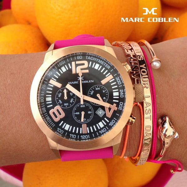 Dámske hodinky Marc Coblen s remienkom a krúžkom na ciferník naviac P32