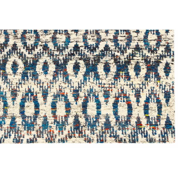 Ručne tkaný koberec Ikat H7 Blue, 120x180 cm