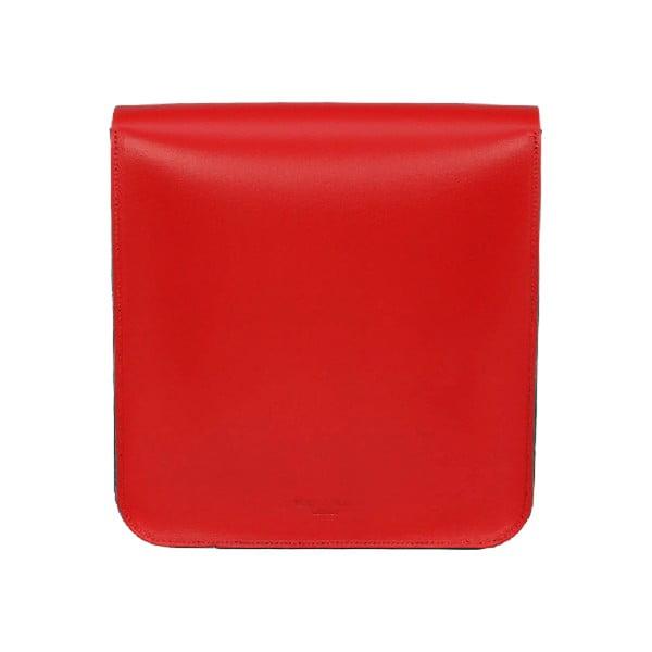 Kožená kabelka Two Tones Red/Chestnut