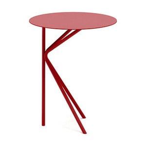 Červený príručný stolík MEME Design Twin