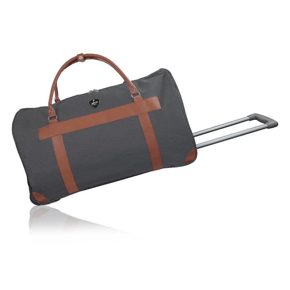 Tmavosivá cestovná taška na kolieskach GENTLEMAN FARMER Oslo, 93 l