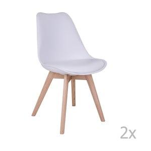 Sada 2 bielych stoličiek House Nordic Molde