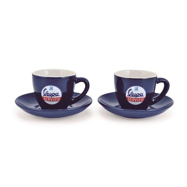 Sada 2 šálok na kávu Vespa