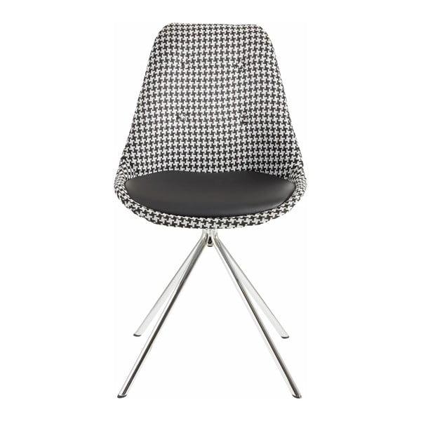 Sada 2 čierno-bielych jedálenských stoličiek Støraa Dylan
