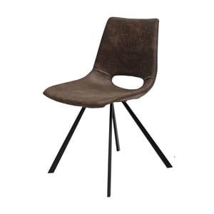Svetlohnedá jedálenská stolička s čiernym podnožím Canett Coronas