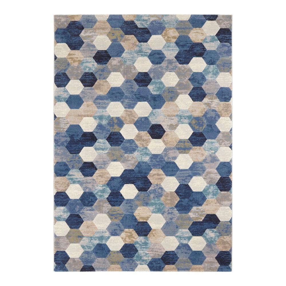 Modro-krémový koberec Elle Decor Arty Manosque, 160 × 230 cm