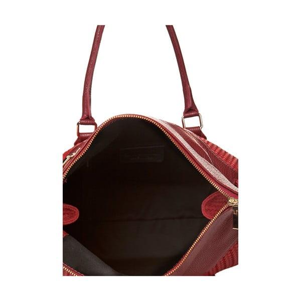 Kožená kabelka Mabel, červená