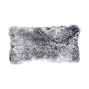 Sivý vlnený vankúš z ovčej kožušiny Auskin Lachlan, 28×56cm