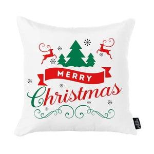 Biela vianočná obliečka na vankúš Apolena Honey Merry Christmas, 45 x 45 cm
