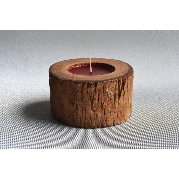 Palmová sviečka Legno s vôňou exotického ovocia, 40 hodín horenia