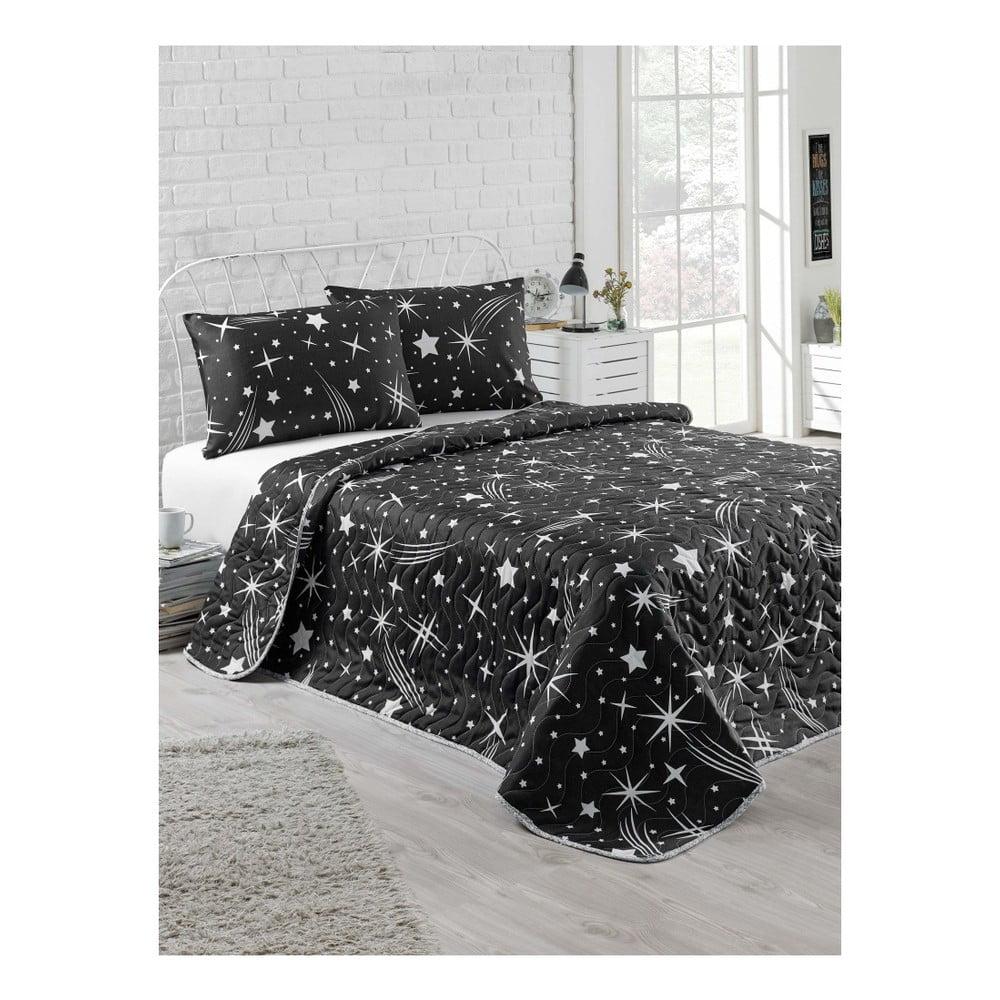 Set plédu na dvojlôžko a obliečok na vankúš Starry Night, 200 × 220 cm