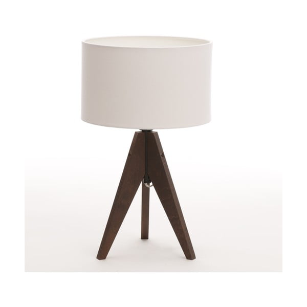 Stolná lampa Arist Cylinder White/Dark Brown